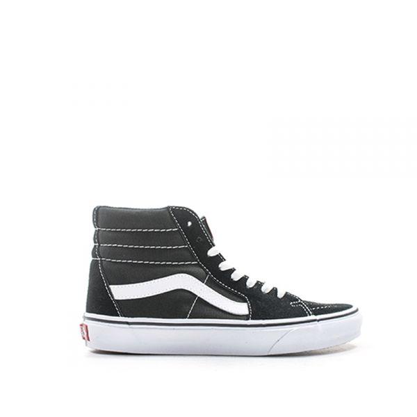 VANS SK8-HI Sneaker donna nera in suede e tessuto