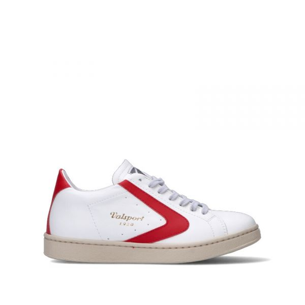VALSPORT Sneaker donna bianca/rossa in pelle