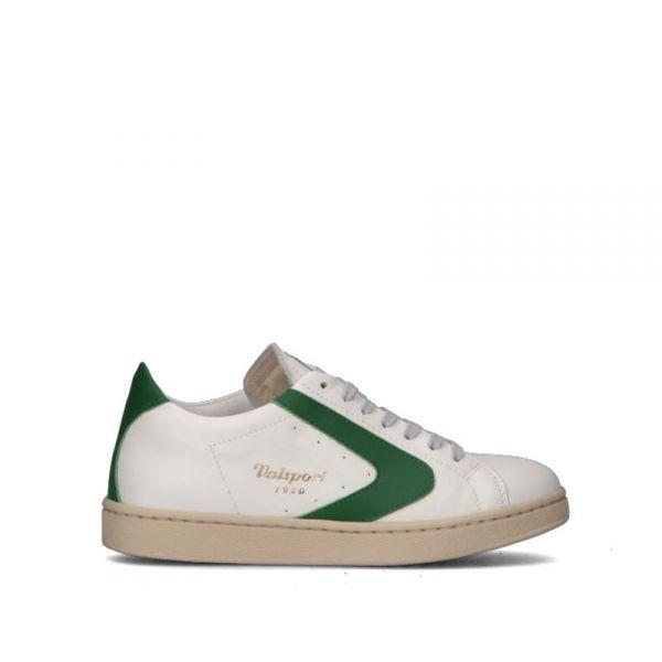 VALSPORT Sneaker donna bianca/verde in pelle