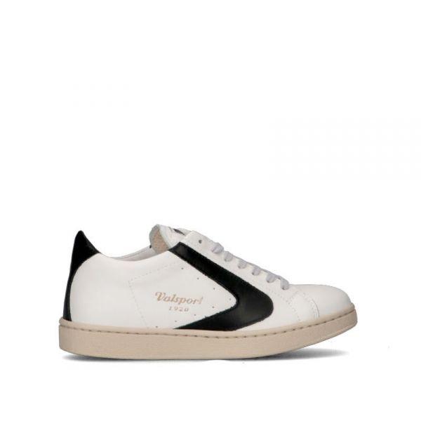 VALSPORT Sneaker donna bianca/nera in pelle