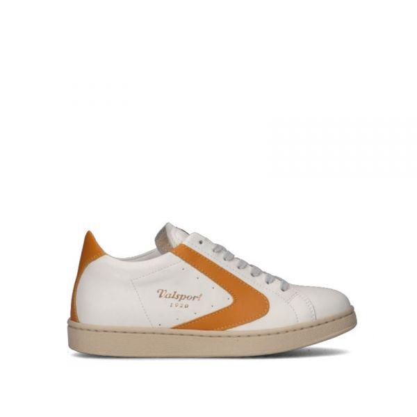 VALSPORT Sneaker donna bianca/ocra in pelle