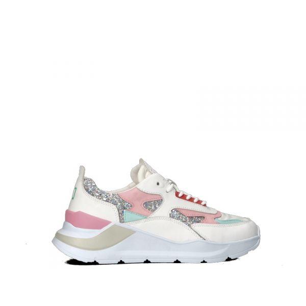 D.A.T.E. Sneaker donna bianca/rosa