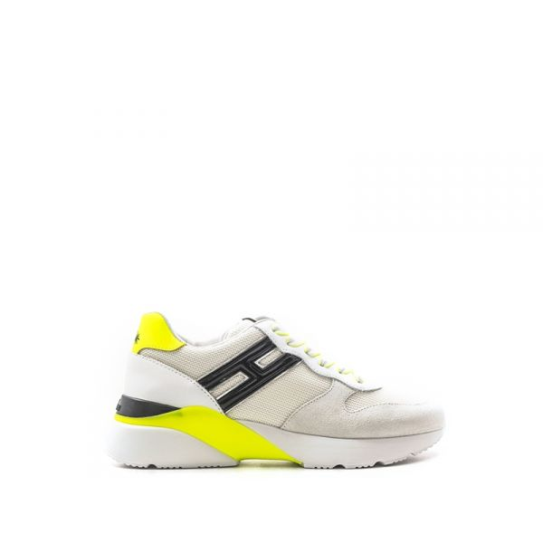 HOGAN ACTIVE ONE Sneaker donna bianca/gialla in pelle