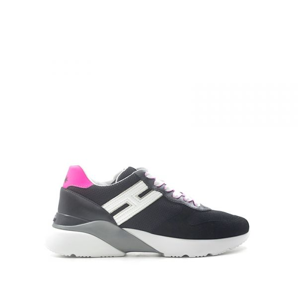 HOGAN ACTIVE ONE Sneaker donna nera/rosa in pelle