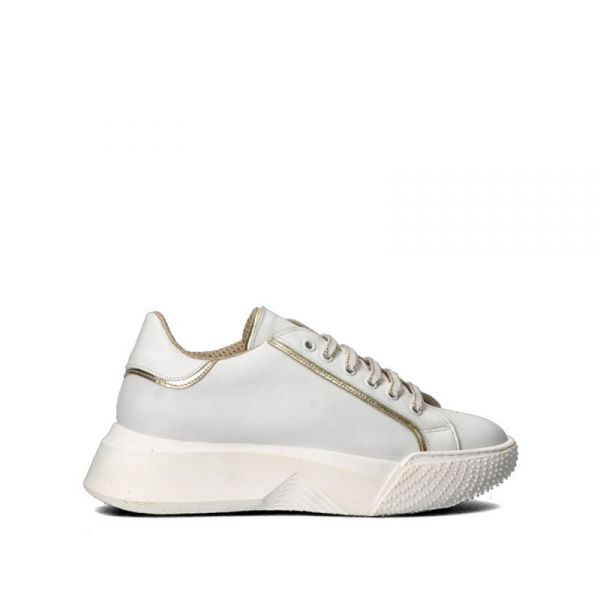 DOLCE MODA Sneakers donna bianca/platino in pelle