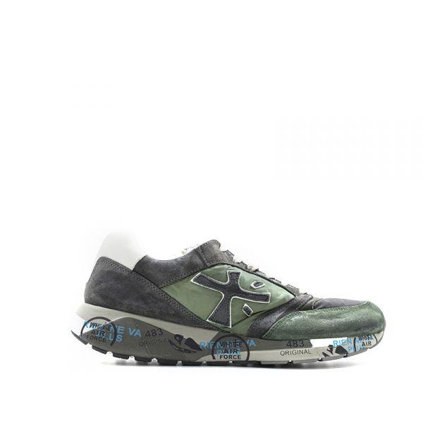 PREMIATA ZAC-ZAC Sneaker uomo verde in suede e tessuto
