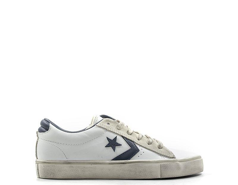 CONVERSE PRO LEATHER VULC Sneaker uomo bianca/blu in pelle