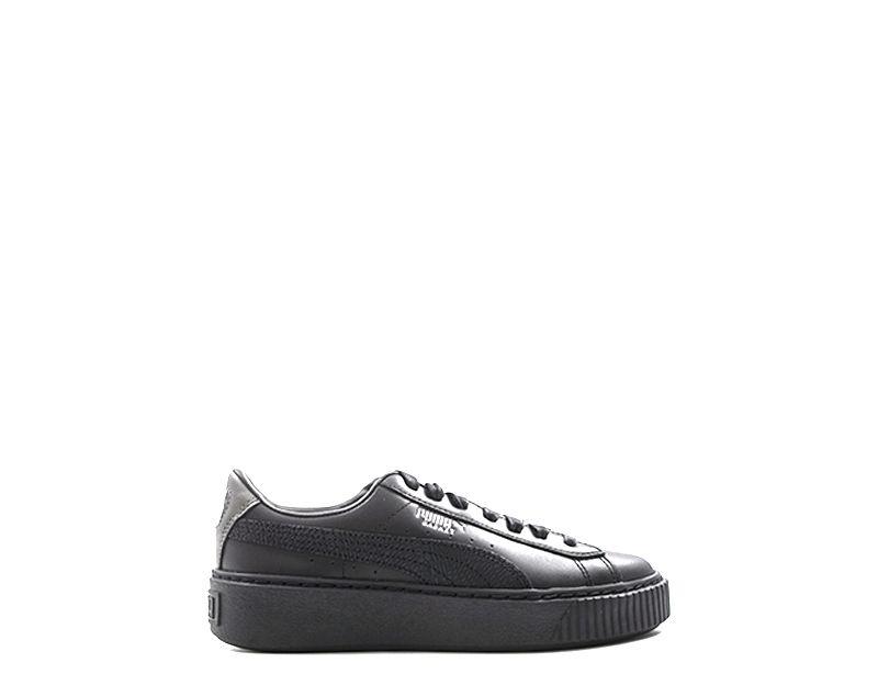 PUMA BASKET PLATFORM EUPHORIA Sneaker donna nera in pelle