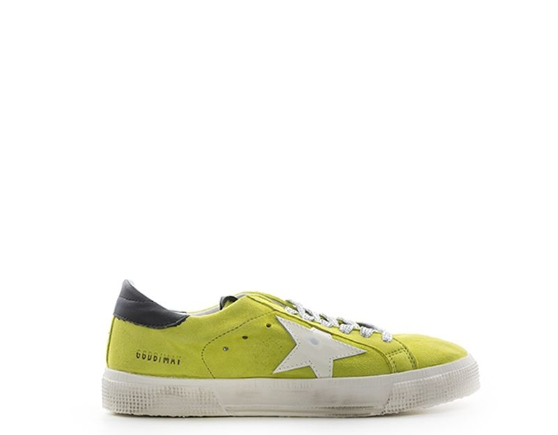GOLDEN GOOSE MAY Sneaker donna lime in suede