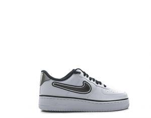 NIKE AIR FORCE 1 NBA LOW Sneaker uomo bianca nera in pelle 35042c8d7d7