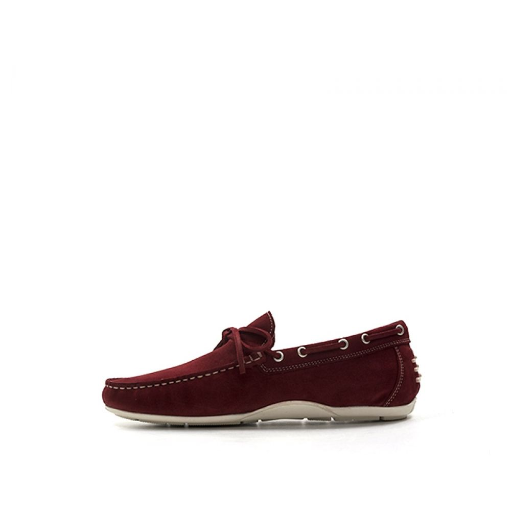 Stonefly Mocassino Uomo Rosso In Suede