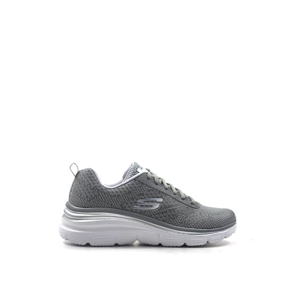 Skechers Fashion Fit Sneaker Donna Grigia In Tessuto