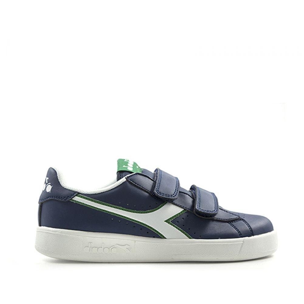 bianco Sneaker Bimbo Game Diadora Blu Blu P