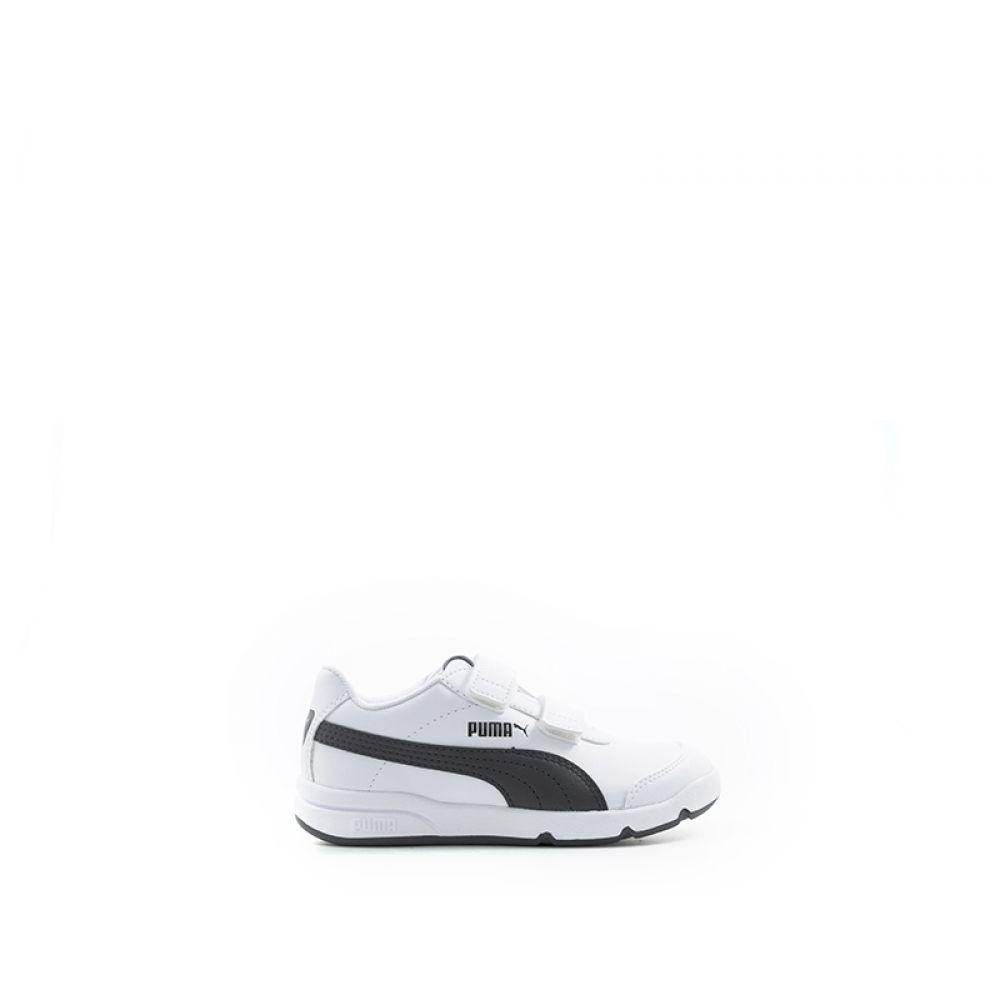 Puma Stepfleex 2 Sneaker Bimbo Bianca nera Bianco