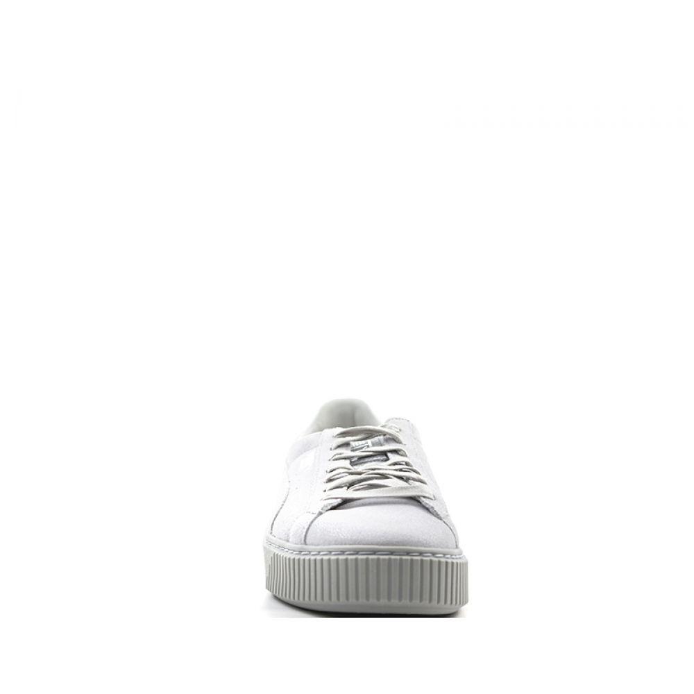 Puma Basket Platform Reset Sneaker Donna Grigia In Suede Grigio