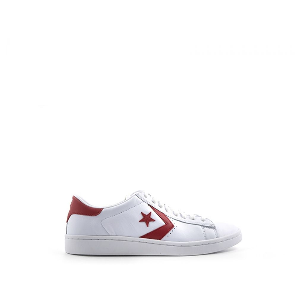 Converse Pro Leather Sneaker Donna Bianca rossa In Pelle Bianco