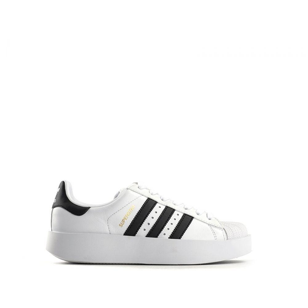in Sneaker BIANCO pelle donna NERO platform ADIDAS bianca SUPERSTAR xI50HOwOqR ...