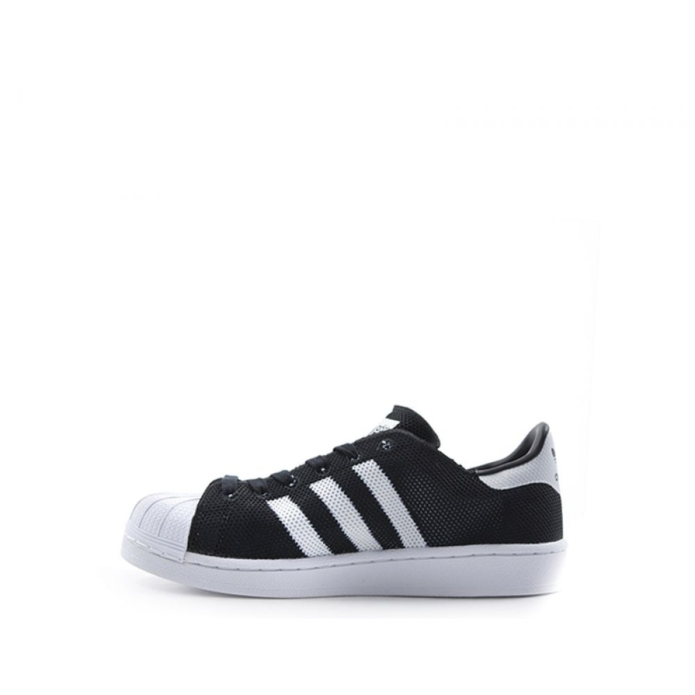 Adidas Superstar Sneaker Ragazzo Nera bianca In Tessuto Nero
