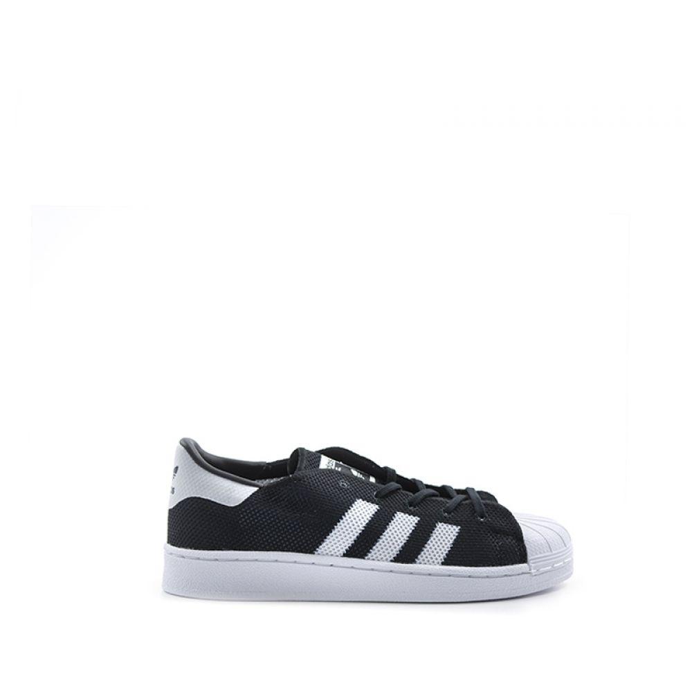 reputable site a6eb2 bf03e Adidas Superstar Sneaker Bimbo Nera bianca In Tessuto Nero ...