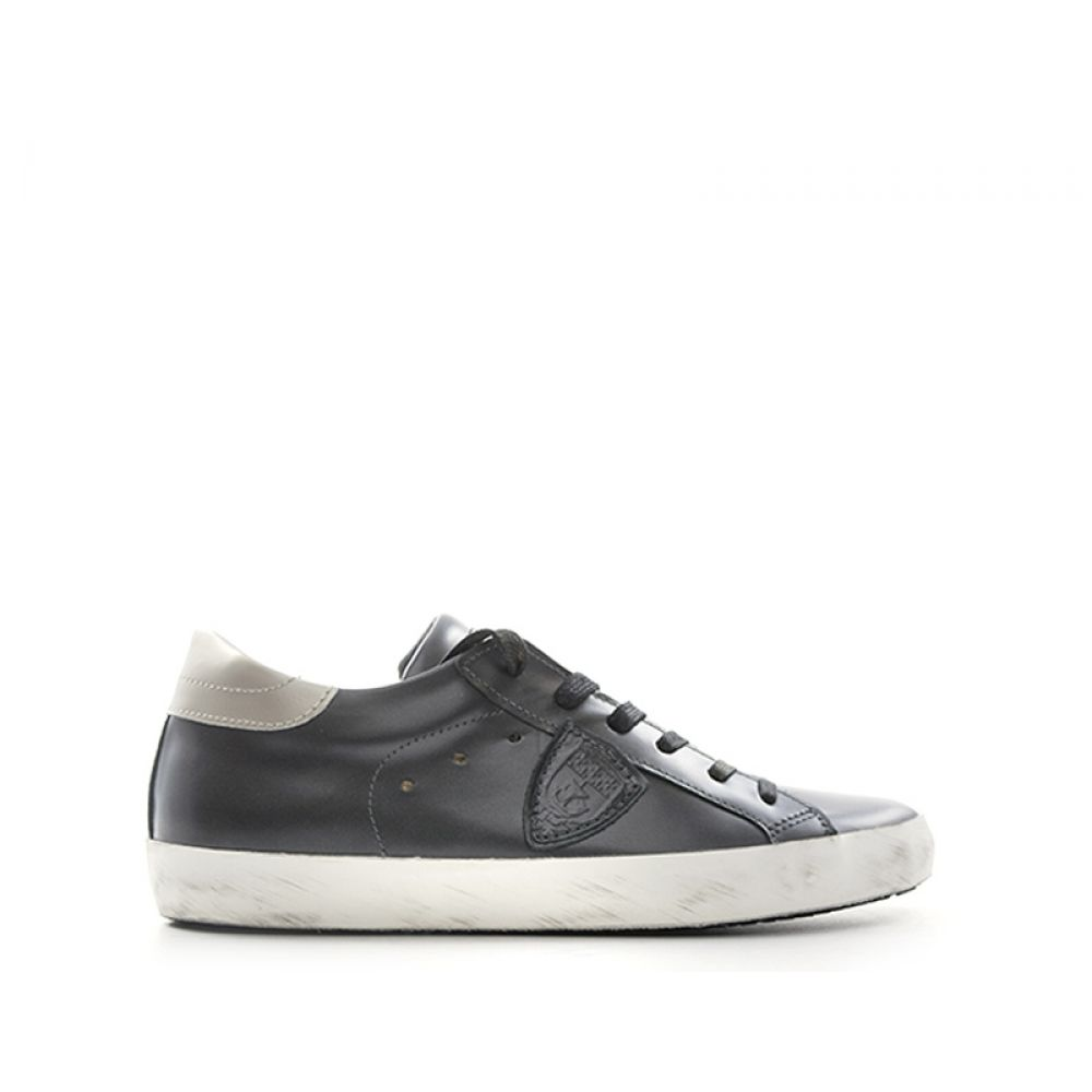 Philippe Model Classic Low Sneaker Donna Nera Pelle