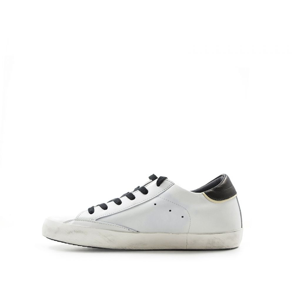 Philippe Model Classi Low Sneaker Donna Bianca nera In Pelle