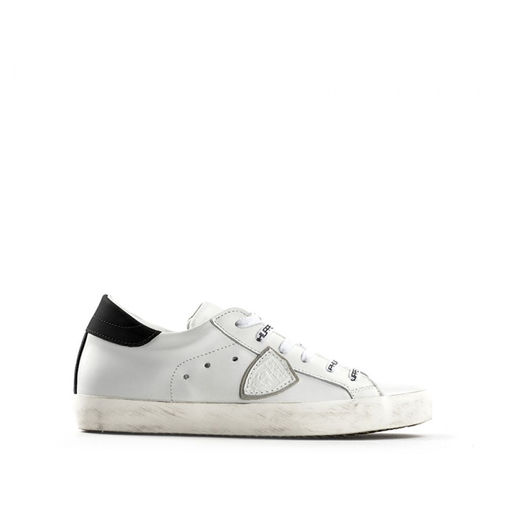low priced 2ad32 3d77b Philippe Model Classic Low Sneaker Donna Bianca In Pelle Bianco ...