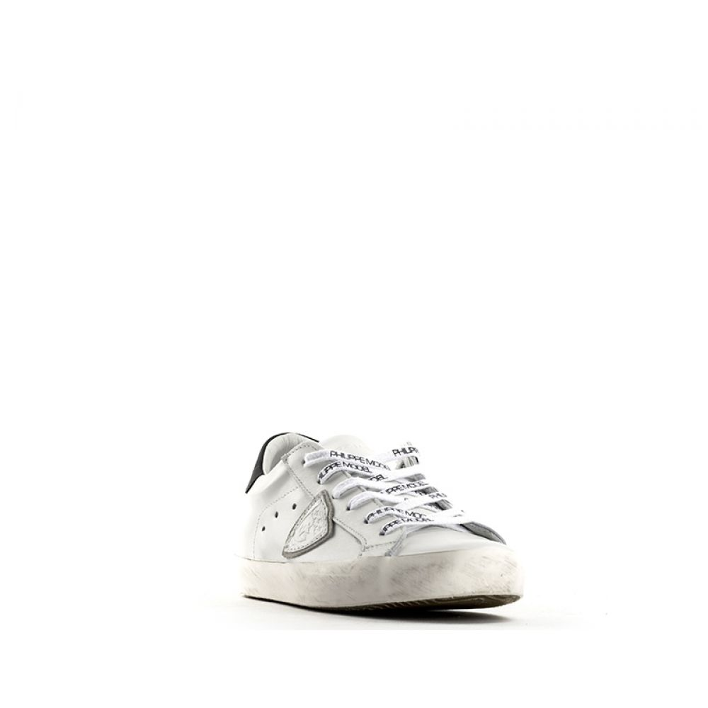 Philippe Model Classic Low Sneaker Donna Bianca In Pelle Bianco