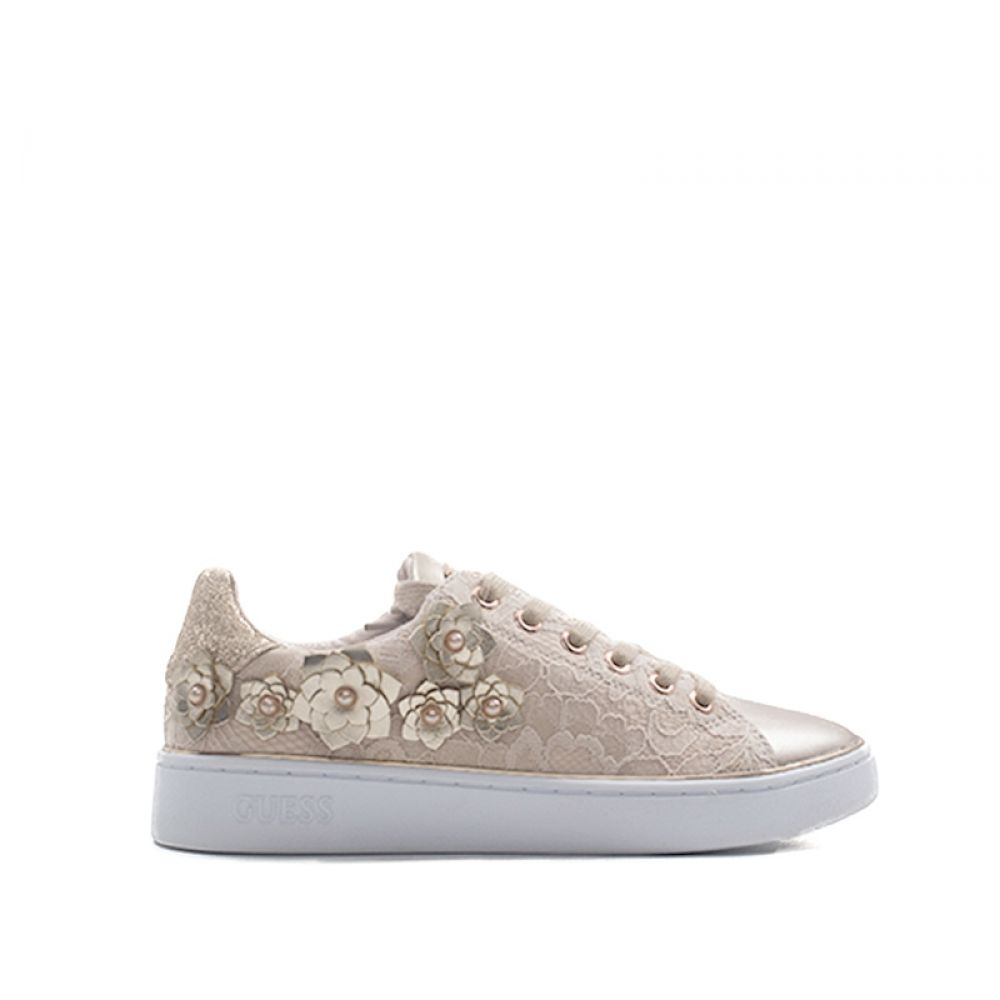Guess Sneaker Donna Rosa In Tessuto