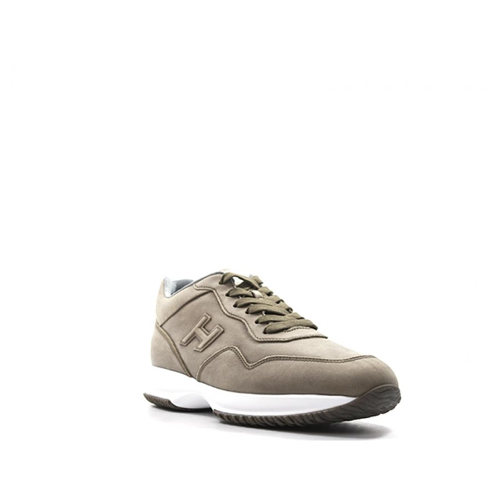 Hogan Interactive Sneaker Uomo Marrone In Pelle