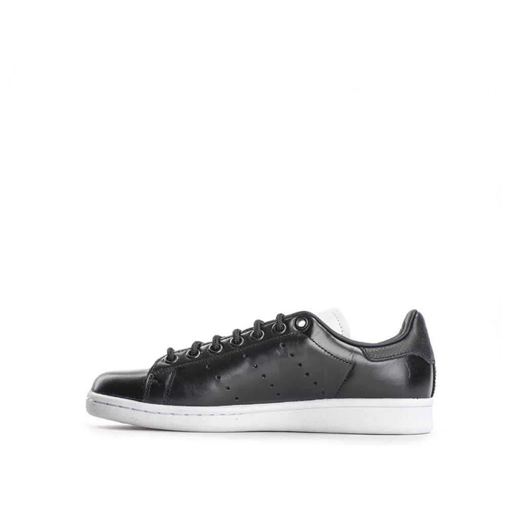 innovative design ae202 f30df ... Sneaker Pelle Nera Donna bianca Smith Nero Stan In Adidas ...