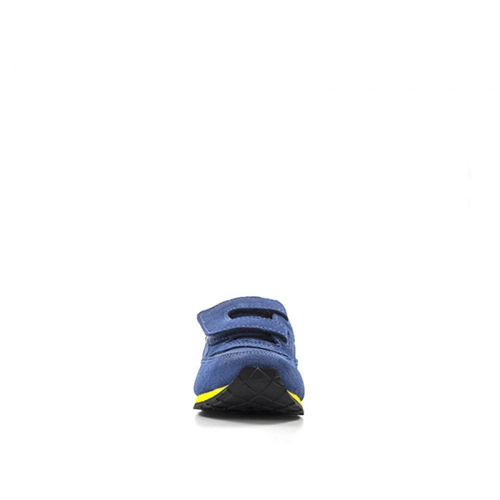 Saucony Jazz Sneaker Bimbo Blu In Suede Tessuto