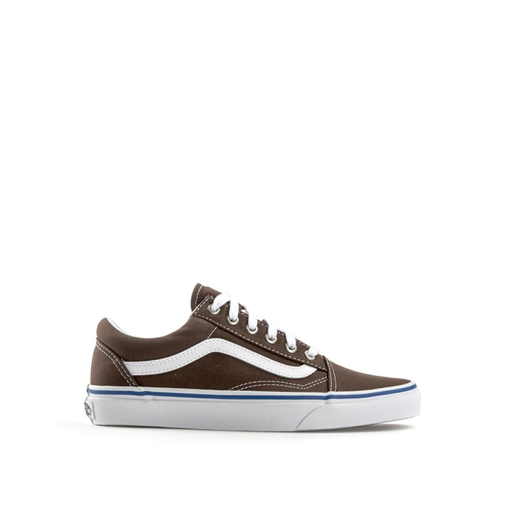 Vans Old Skool Sneaker Donna Marrone bianca In Tessuto