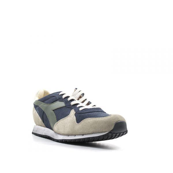 DIADORA HERITAGE TRIDENT Sneaker uomo blubeige in suede
