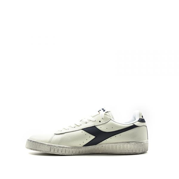 DIADORA GAME L LOW WAXED Sneaker donna biancablu in pelle