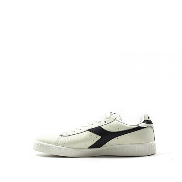 Scarpe sportive donna DIADORA Game Low pelle bianco panna e nero 172526-C3159