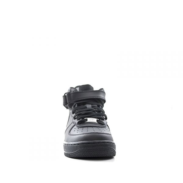 NIKE AIR FORCE 1 MID Sneaker donna nera in pelle