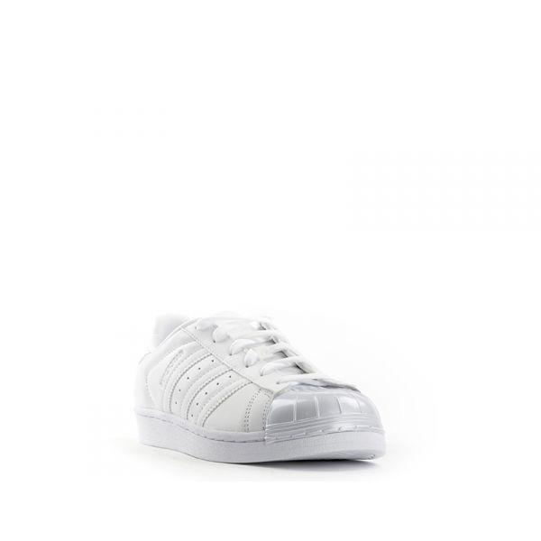 ADIDAS SUPERSTAR GLOSSY TOE W Sneaker donna bianca Bu2qKi