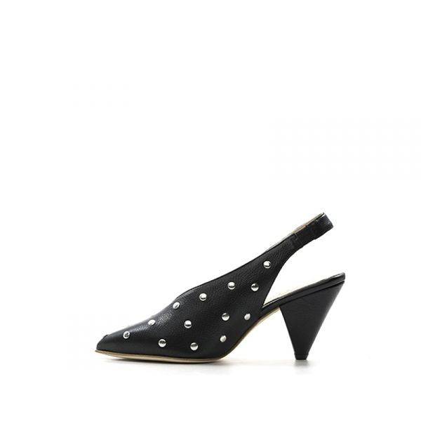 PHIL MELVIS Slingback donna nera in pelle con borchie owHSWZ