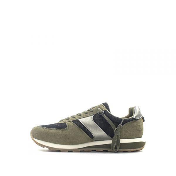 ETONIC ECLIPSE Sneaker uomo verde militare suede PPx7lW