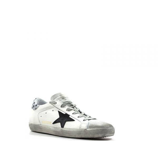GOLDEN GOOSE Sneaker donna bianca/nera pelle iyJ4P2