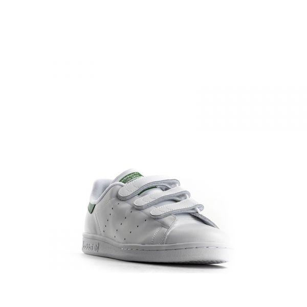 ADIDAS STAN SMITH CF Sneaker uomo bianca in pelle strappi