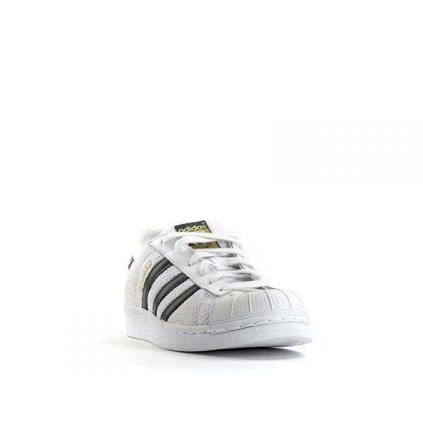 cheap for discount a97ec 88d9f ADIDAS SUPERSTAR J Sneaker ragazzo bianca nera ricamata ...