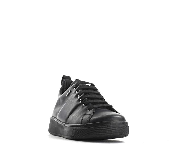 c89d980396 Dettagli su Scarpe GEOX Donna Sneakers Trendy NERO Pelle naturale  D643MC-00085-C9999S