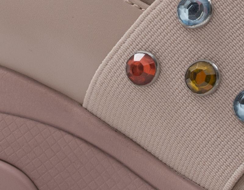 Détails sur Chaussures Fornarina Femme Baskets Trendy Rose PU, Tissu DAILY1 NUDE
