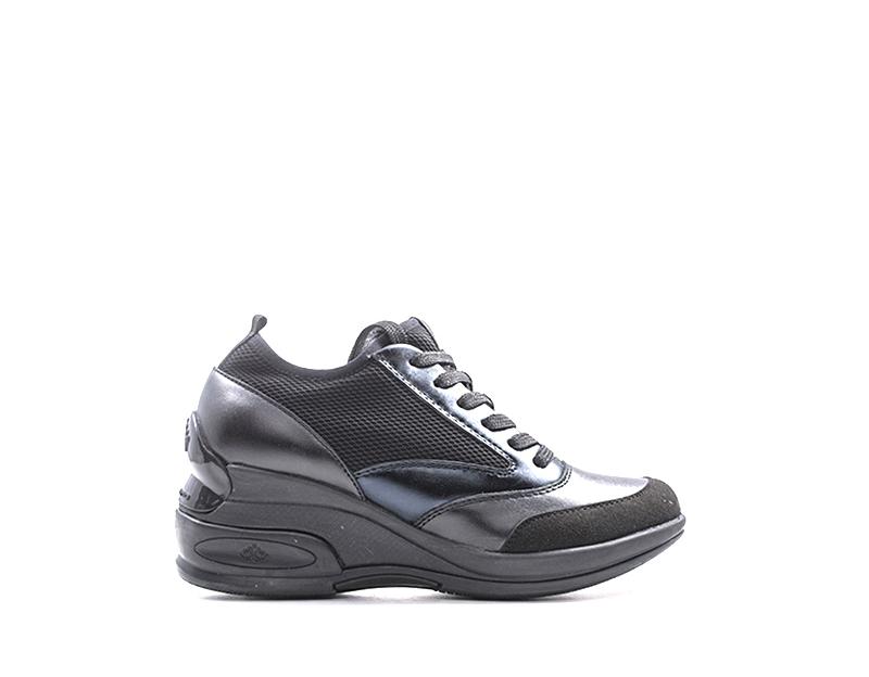 7168d0db44 Detalles de Scarpe FORNARINA Donna Sneakers Trendy NERO Pelle  naturale,Tessuto DAILY4-NERO