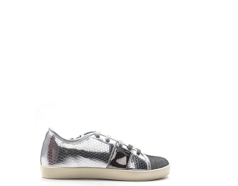 Dettagli su Scarpe ENRICO COVERI Bambini Sneakers Trendy ARGENTO PU,Tessuto E77R670SIS