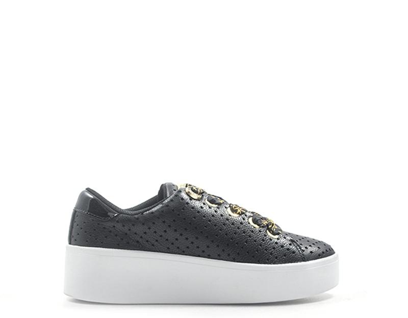Dettagli su Scarpe GUESS Donna Sneakers Trendy NERO Pelle naturale,PU FL6TWNLEA12 BLK