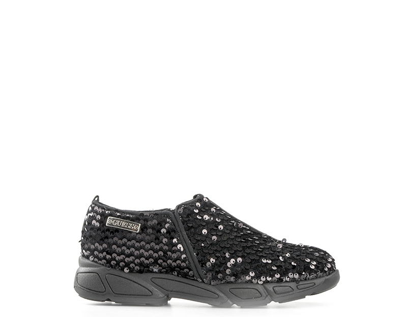 Scarpe GUESS Donna Sneakers Trendy NERO Paillettes fc7c309a090