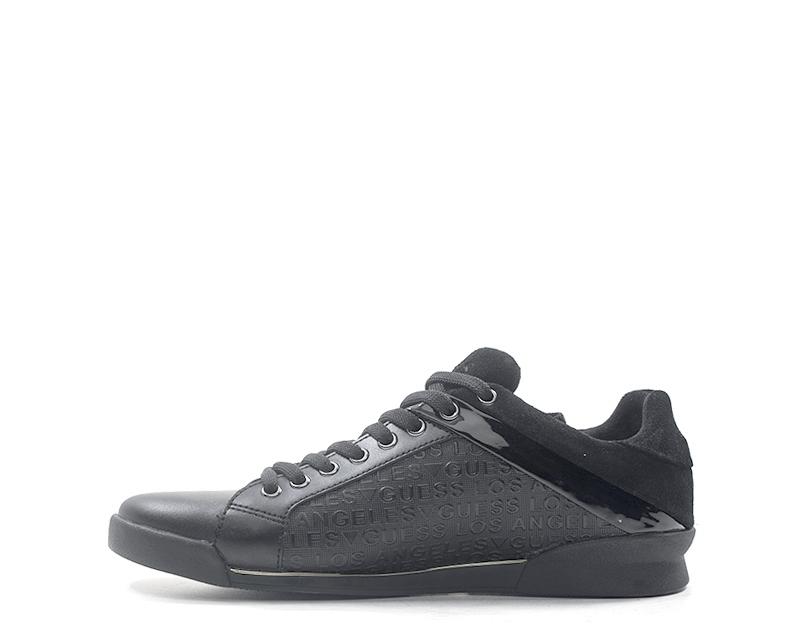 Dettagli su Scarpe GUESS Uomo Sneakers trendy NERO Pelle naturale,Scamosciato FMGEO3LEM12S