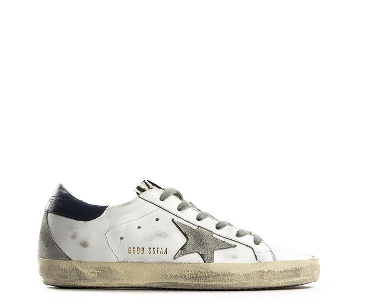Scarpe GOLDEN GOOSE Donna Sneakers Trendy BIANCO BLU Cavallino 407a8d8b784